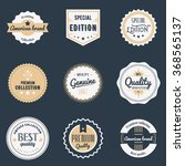 premium quality labels set.... | Shutterstock .eps vector #368565137