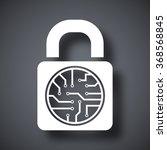 vector electronic lock icon | Shutterstock .eps vector #368568845