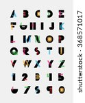 color alphabetic fonts and... | Shutterstock .eps vector #368571017