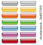 vector glossy button set | Shutterstock .eps vector #36857293
