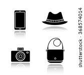 men's accessories drop shadow... | Shutterstock .eps vector #368574014