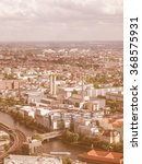 Small photo of Aeria view of the city of Berlin in Germany vintage