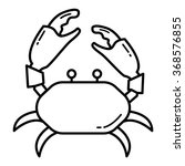 Crab Icon In Vector  Eps 8