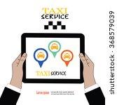 public taxi online service... | Shutterstock .eps vector #368579039