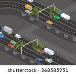 overhead road and highway... | Shutterstock .eps vector #368585951