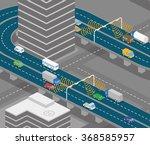 overhead road and highway...   Shutterstock .eps vector #368585957