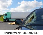 view of truck in an accident... | Shutterstock . vector #368589437