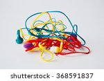set of tangled red  yellow and... | Shutterstock . vector #368591837