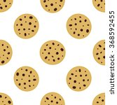Simple Cute Cookie Flat Vector...