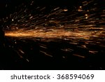 hard job  with  sparks from... | Shutterstock . vector #368594069
