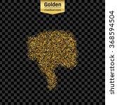 gold glitter vector icon of... | Shutterstock .eps vector #368594504