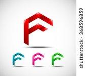 abstract letter f logo vector... | Shutterstock .eps vector #368596859