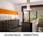 3d illustration of modern black ... | Shutterstock . vector #368607641