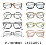 hand drawn vector spectacles...   Shutterstock .eps vector #368610971