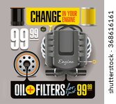 advertising banner illustrates... | Shutterstock . vector #368616161