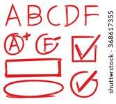 grades results symbols  check... | Shutterstock .eps vector #368617355