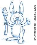 cute cartoon bunny with shiny... | Shutterstock .eps vector #368621201