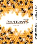 Vector Honey Background With...