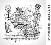 rail freight. trade between... | Shutterstock .eps vector #368621765