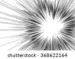 comic book radial lines... | Shutterstock .eps vector #368622164