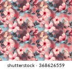 hand drawn  watercolor floral... | Shutterstock . vector #368626559