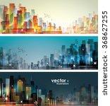 city landscape | Shutterstock .eps vector #368627255