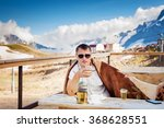young smiling man with... | Shutterstock . vector #368628551