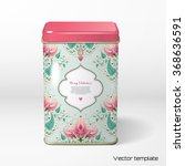 vector object. square tin... | Shutterstock .eps vector #368636591