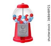 antique red bubblegum machine | Shutterstock .eps vector #368648921