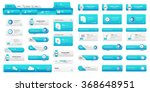 pack of business buttons | Shutterstock .eps vector #368648951