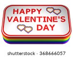 concept  gay valentines day... | Shutterstock . vector #368666057