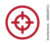 flat red scope icon in circle...   Shutterstock .eps vector #368668511