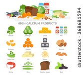 high calcium food infographic... | Shutterstock .eps vector #368681594