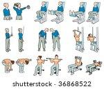 gymnastics   Shutterstock .eps vector #36868522