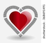 heart gift present valentine's... | Shutterstock .eps vector #368691491