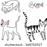 different breeds of cats  2 5  | Shutterstock .eps vector #368703527