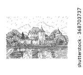 blutenburg castle in munich ... | Shutterstock .eps vector #368703737