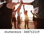 shot of male and female runners ... | Shutterstock . vector #368712119