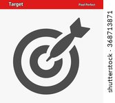 target icon. professional ... | Shutterstock .eps vector #368713871