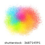 bright neon colord paint powder ... | Shutterstock .eps vector #368714591