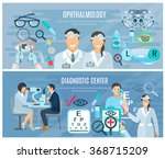 ophthalmic diagnostic center... | Shutterstock .eps vector #368715209
