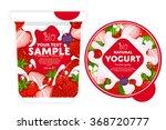 yogurt splash on strawberry.   Shutterstock .eps vector #368720777