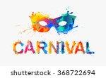 carnival. rainbow splash paint... | Shutterstock .eps vector #368722694