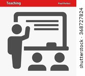 teaching icon. professional ... | Shutterstock .eps vector #368727824