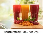 set of fruit non alcoholic... | Shutterstock . vector #368735291