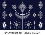 geometric ethnic pattern design ... | Shutterstock .eps vector #368746124
