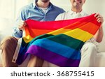 close up of male gay couple...   Shutterstock . vector #368755415