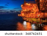 the large offshore oil rig at... | Shutterstock . vector #368762651