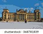 drawing of the reichstag ...