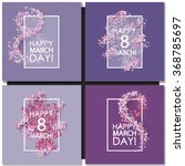set of women day cards... | Shutterstock .eps vector #368785697